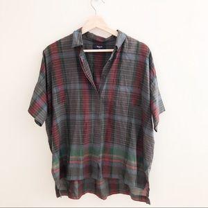 Madewell button down short sleeve shirt